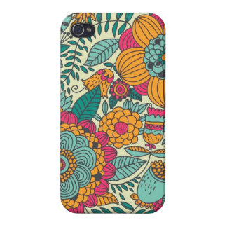 Vintage Paisley-Blumen iPhone 4 Cover