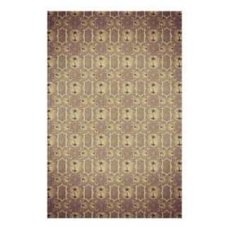 Vintage Palmen-abstraktes Muster Browns Flyers