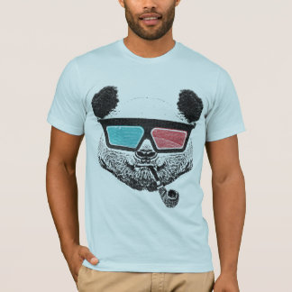 Vintage Panda glasses3-D T-Shirt