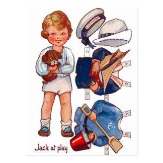 Vintage Paperdoll kleiner Jungen-Jack-Postkarte Postkarten