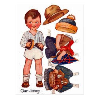 Vintage Paperdoll kleiner Jungen-Jimmy-Postkarte Postkarte