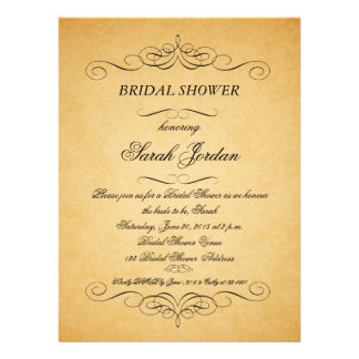 Vintage PapierWirbels-Brautparty-Einladung