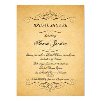 Vintage PapierWirbels-Brautparty-Einladung 16,5 X 22,2 Cm Einladungskarte