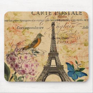Vintage Paris-mit Blumenkunst des eleganten girly Mauspads