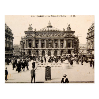 Vintage Paris-Postkarte, das Opern-Haus Postkarte