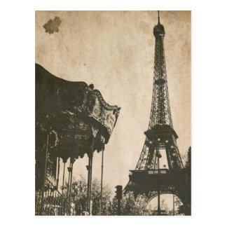 Vintage Paris-Postkarte, Eiffel-Turm