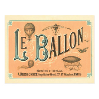 Vintage ParisBallonpostkarte Postkarte