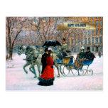 Vintage Pariser Art-Weihnachtspostkarten Postkarte