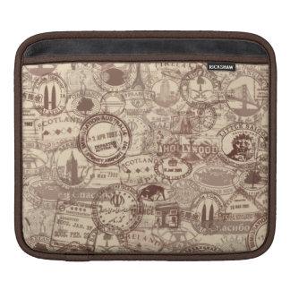 Vintage Pass-Briefmarken iPad Hülse Sleeve Für iPads
