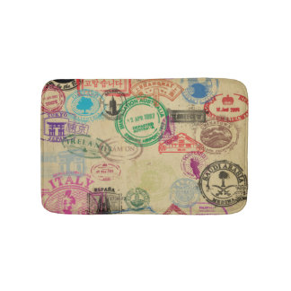 Vintage Pass-Briefmarken-kleine Bad-Matte Badematte