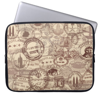 Vintage Pass-Briefmarken-Laptop-Hülse Laptop Sleeve