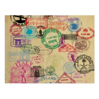 Vintage Pass-Briefmarken Postkarte