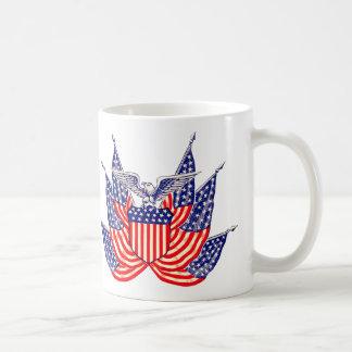 Vintage patriotische amerikanische Flagge, Kaffeetasse