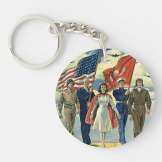 Vintage patriotische, stolze schlüsselanhänger