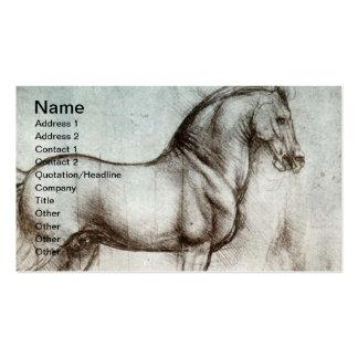 Vintage Pferdekunst Visitenkartenvorlagen