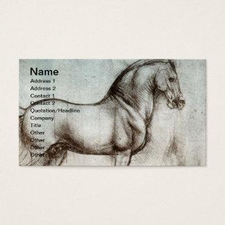 Vintage Pferdekunst Visitenkarte