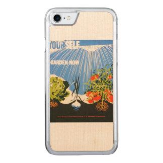 Vintage Pflanze ein des Garten-Plakat jetzt WPA Carved iPhone 8/7 Hülle