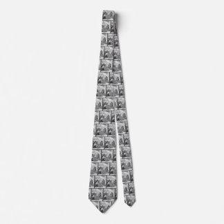 Vintage Piraten, die ihre Schätze und Beute zählen Krawatte