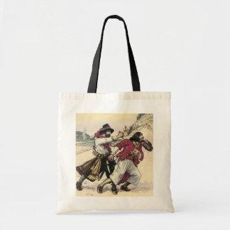 Vintage Piraten, Duell bebauen den Tod auf dem Tragetasche