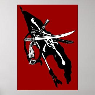 Vintage Piraten-Flagge, Poster