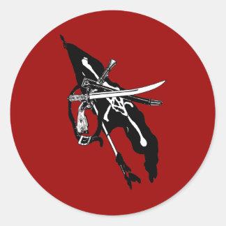 Vintage Piraten-Flagge, Runder Aufkleber