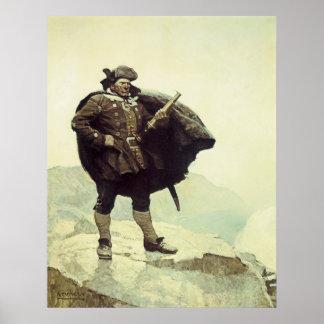 Vintage Piraten, Kapitän Bill Bones durch NC Wyeth Poster