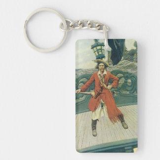 Vintage Piraten, Kapitän Keitt durch Howard Pyle Schlüsselanhänger