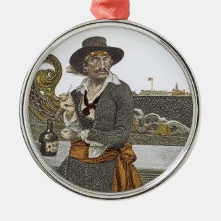 Vintage Piraten, Kidd auf Plattform der Silbernes Ornament