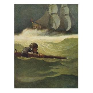 Vintage Piraten, Wrack des Vertrages durch NC Postkarte