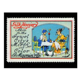Vintage Plakat-Briefmarken-Postkarte Magnin San Postkarte