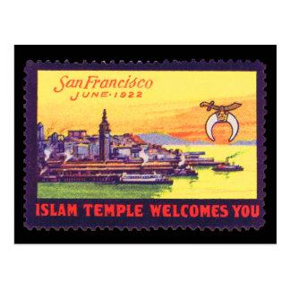 Vintage Plakat-Briefmarken-Postkarte, Shriners SF Postkarte