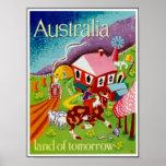 Vintage Plakat-Reise-historische Kunst Australien