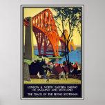 Vintage Plakat-Reise-London-Eisenbahn Schottland