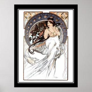 Vintage Plakatfranzosen Alphonse Mucha Poster