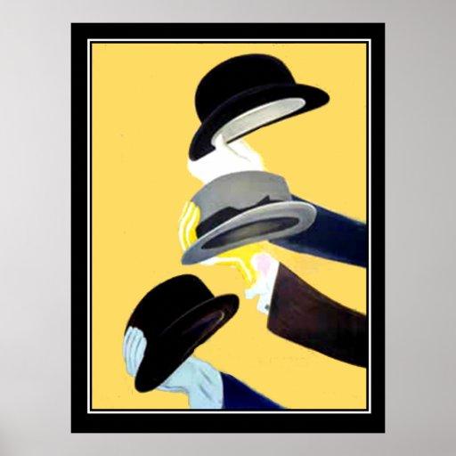 Vintage Plakatfranzosen Hut-des französischen Poster