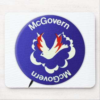 Vintage Politik McGovern für Präsidenten Button Mousepad