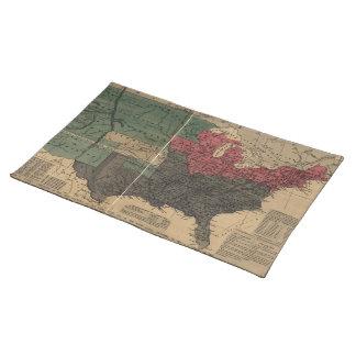 Vintage politische Karte der Vereinigten Staaten Tischset