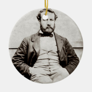 Vintage Porträt-Fotografie Jules Verne Keramik Ornament