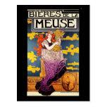 Vintage Postkarte:  Bieres De-La Maas