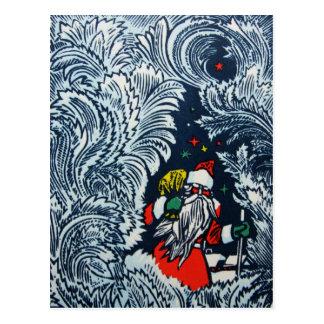 Vintage Postkarte der frohen Weihnachten 1975 von
