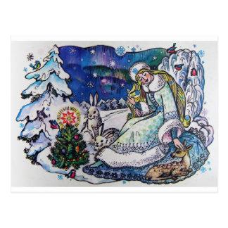 Vintage Postkarte der frohen Weihnachten 1986 von