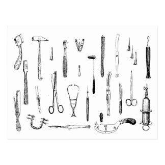 Vintage Postkarte der medizinischen Instrumente
