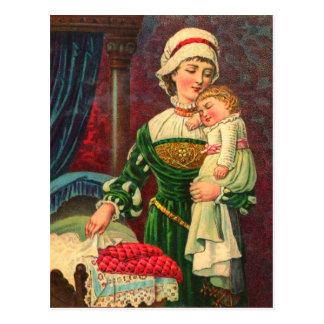 Vintage Postkarte der Mutter Tages