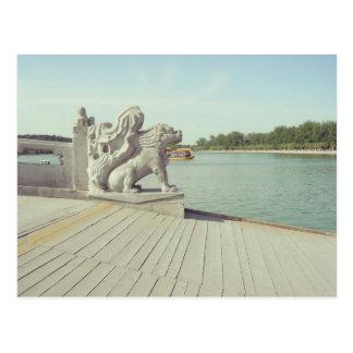 Vintage Postkarte der Peking-Sommerpalast-Brücke