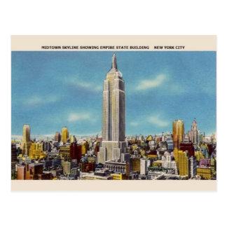 Vintage Postkarte des Reich-Staats-Gebäude-NYC