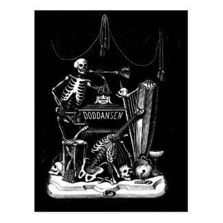 Vintage Postkarte des skeleton Bandes