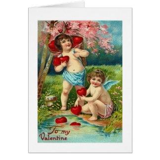 Vintage Postkarte des Valentines Tages