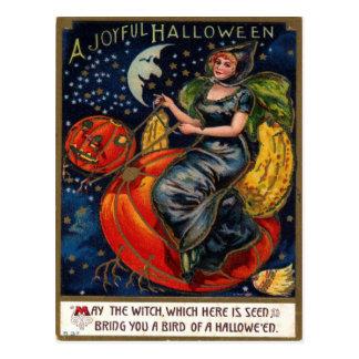 Vintage Postkarte Halloweens