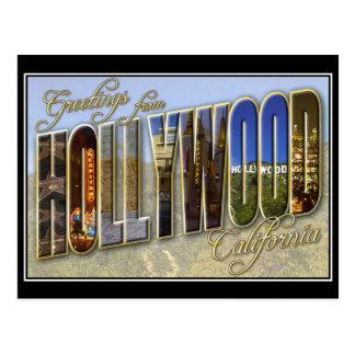 Vintage Postkarte Hollywood