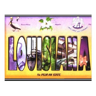Vintage Postkarte Louisianas
